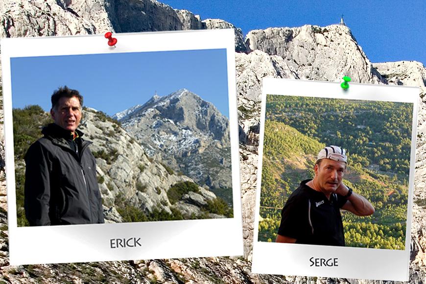 Erick et Serge : les deux visages du Trail Sainte Victoire