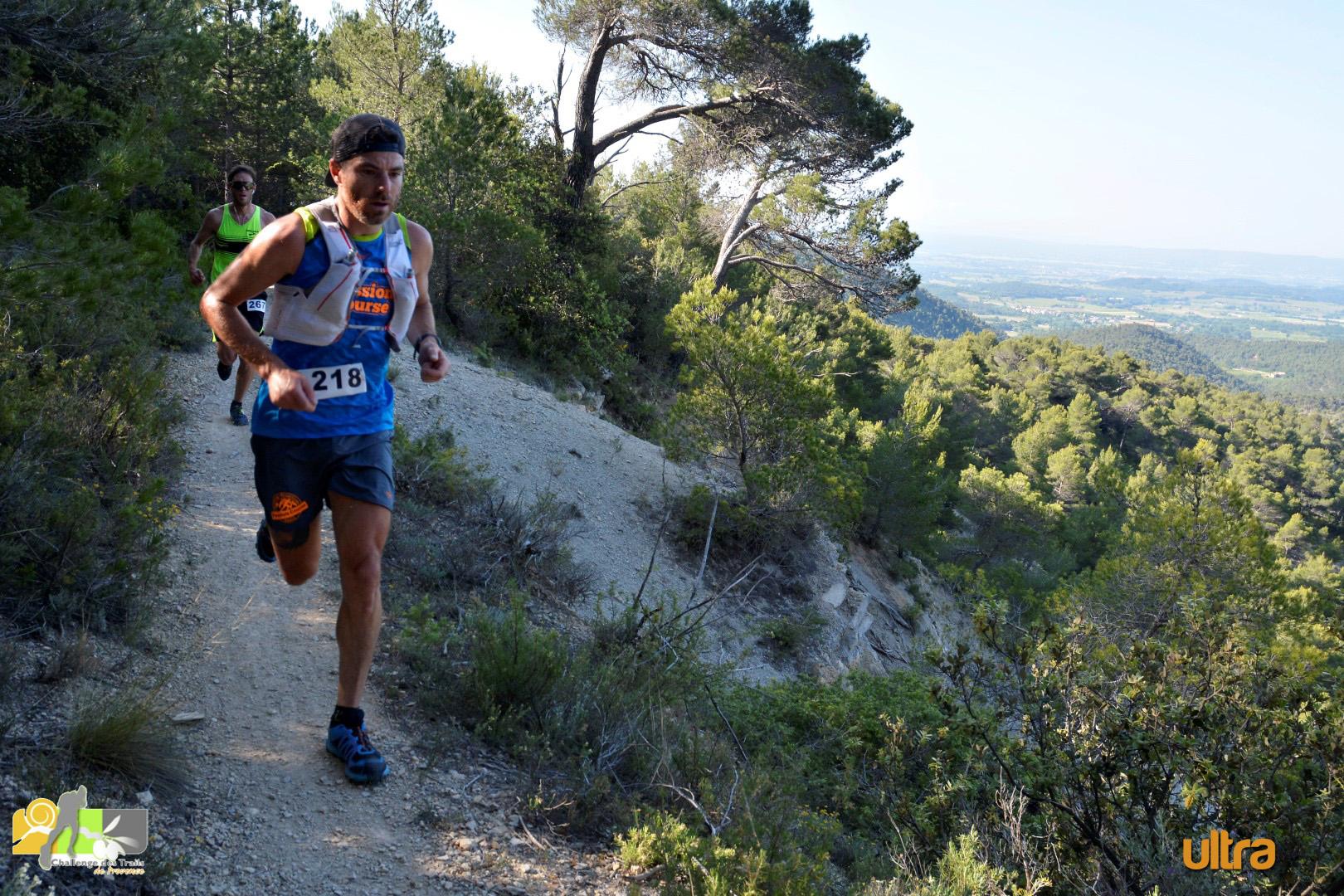 Amandine Ferrato et Stéphane Begaud, vainqueurs du Trail du Grand Luberon