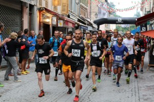 7 Ubaye Trail Salomon 2015 départ 25 km photo Robert Goin