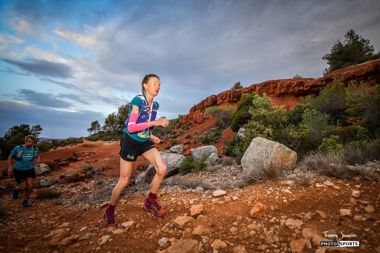 Maryline Nakache et Sébastien Spehler, champions des trails de Provence 2018, longue distance