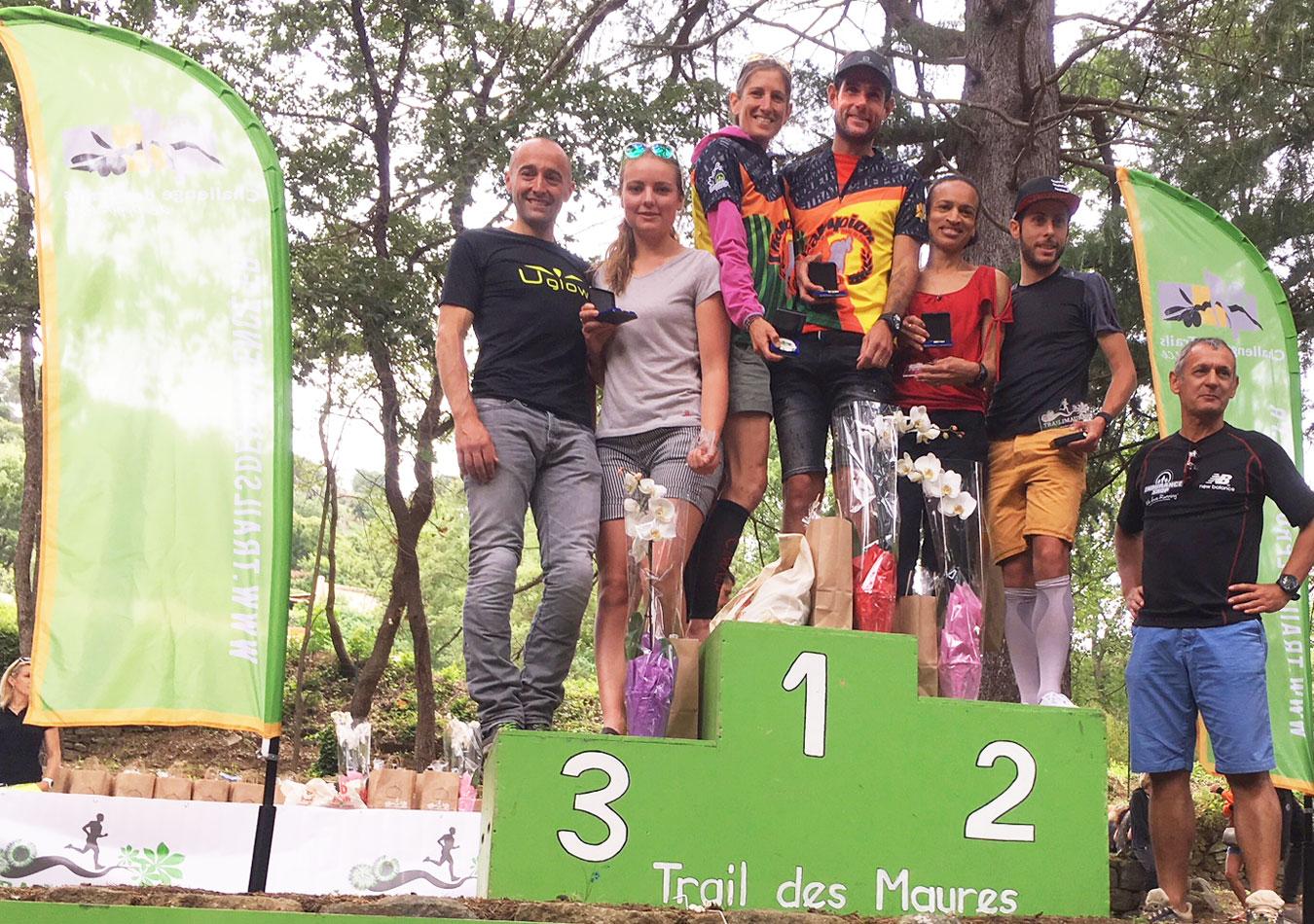 Trail des Maures : Alexia Coudray et Yohan Peisson champions 2018 des Trails courts de Provence