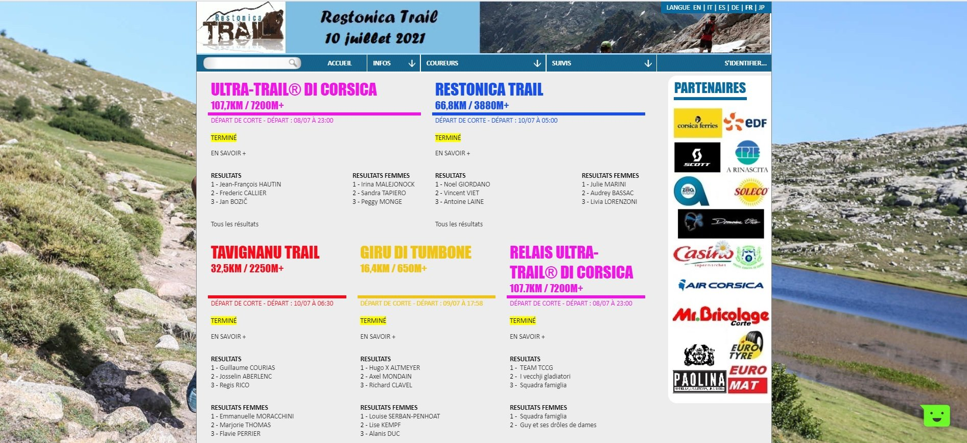 RESTONICA TRAIL 2021-Le compte rendu